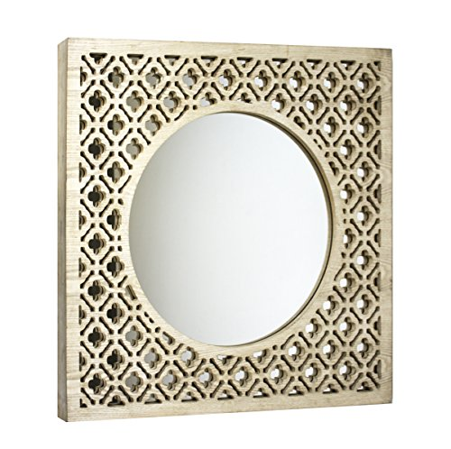 Sagebrook Home 11977 Wood & Glass Trellis Mirror, Window Box