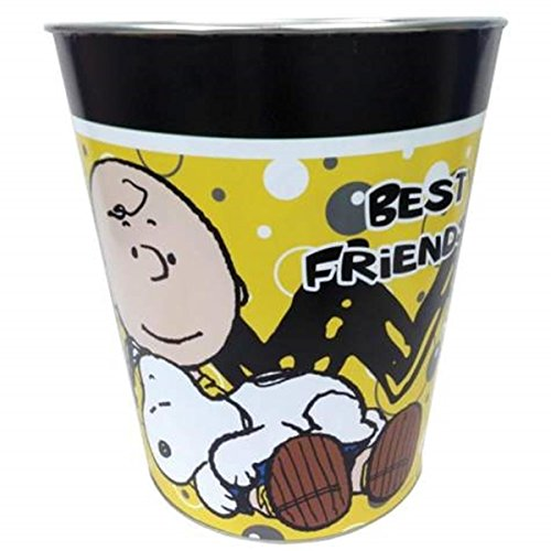 WL SS-WL-24433 Best Friends Tin Waste Basket with Snoopy & Charlie Brown, 10