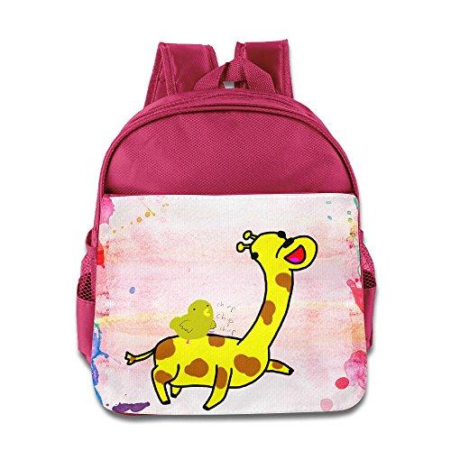 [KIDDOS Infant Toddler Kids Chick Riding Giraffes Backpack School Bag, Pink] (Fireman Sam Costume 2-3)