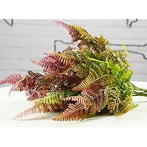 hilingo Artificial Mini Boston Fern Plants for Home and Garden Decoration 92