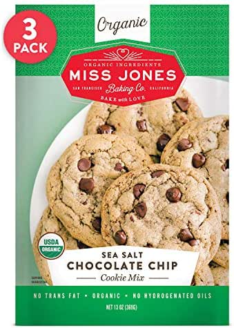 Baking Mixes: Miss Jones Baking Sea Salt Chocolate Chip Cookie Mix