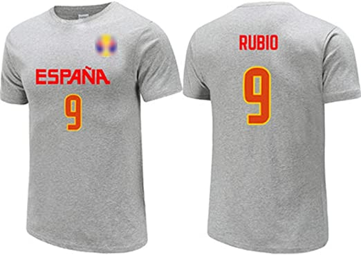 Ricky Rubio No.9 España de la camiseta, jerseys, / alta ...