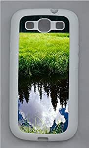 Samsung S3 Case Green Plants And The Reflection Of Clouds TPU Custom Samsung S3 Case Cover White