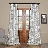 HPD HALF PRICE DRAPES Ptpch-170806B-84 Rococo Printed Faux Silk Taffeta Blackout Curtain, 50 x 84, Grey Review