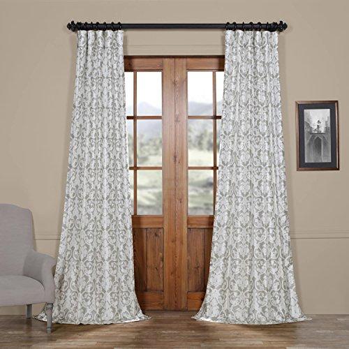 Half Price Drapes Ptpch-170806B-120 Rococo Printed Faux Silk Taffeta Blackout Curtain, 50 x 120, ...