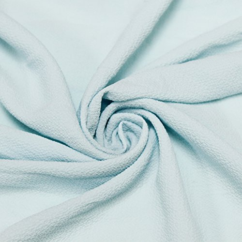 Blue Spa Bubble Crepe Chiffon Fabric Textured Chiffon (Bubbles Textured)