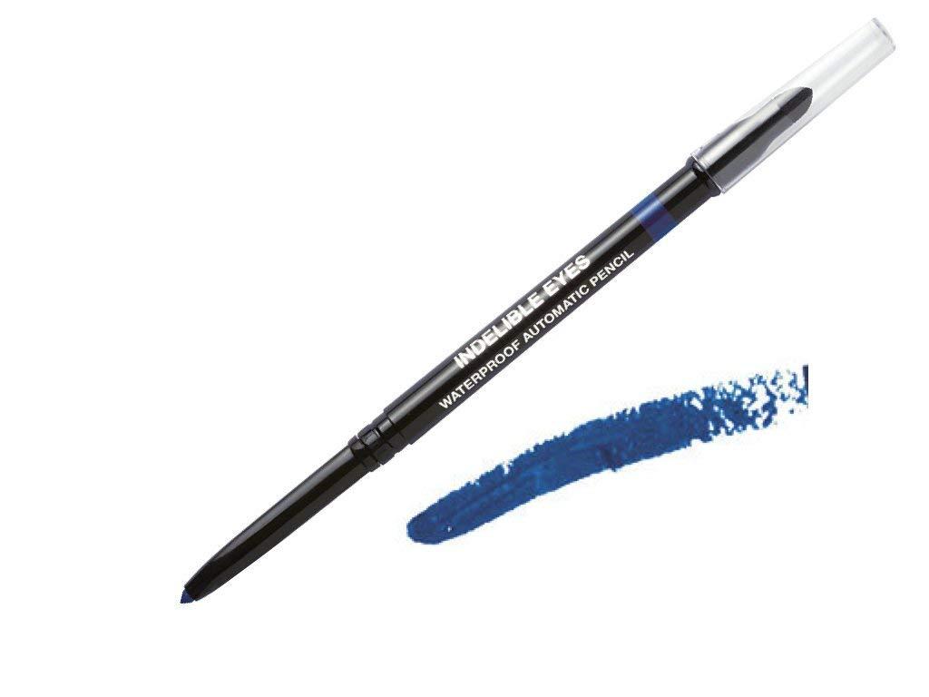 Indelible Eyes Smooth Waterproof Gel Eyeliner - BLUE IMPERIAL - Smudge proof - Ultra Smooth - Super Easy - Long lasting - Blender tip - Longwear - no sharpener needed - Slim-line Pencil