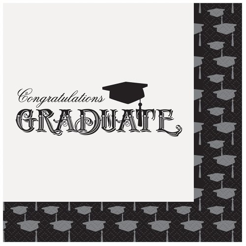 Gown Napkins - Classic Graduation Party Napkins, 20ct