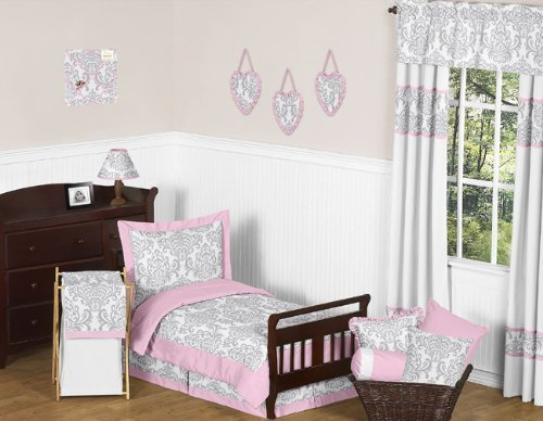 Sweet Jojo Designs 5-Piece Pink, Gray and White Elizabeth To