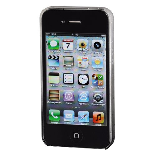Hama Drop Handy-Cover für Apple iPhone 4/4S transparent/schwarz