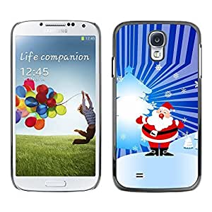 YOYO Slim PC / Aluminium Case Cover Armor Shell Portection //Christmas Holiday Santa Claus Holiday 1038 //Samsung Galaxy S4