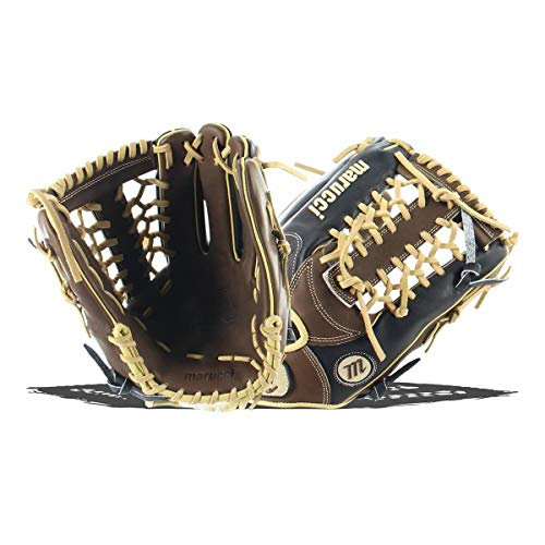 - Marucci MFGHG1275T-KR-RG Honor The Game Series Baseball Fielding Gloves, Black/Gumbo, 12.75