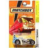 Matchbox 2009 Construction Scraper Tractor Blue Grey Gray #62
