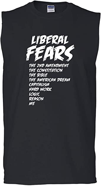 Liberal Fears Muscle Shirt Funny 2nd Amendment Political Constitution Sleeveless
