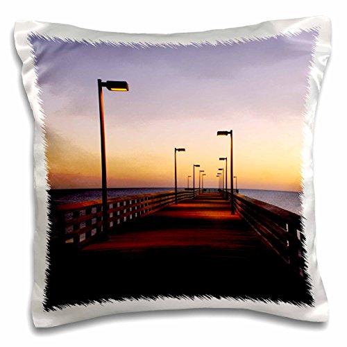 Danita Delimont - Florida - Public Pier, Gulf of Mexico, Panama City, Florida - US10 FVI0108 - Franklin Viola - 16x16 inch Pillow Case - Beach Panama City Pier