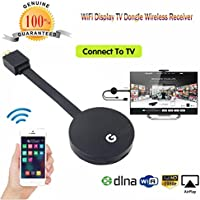 Wifi Display HDMI 1080P TV Dongle Receiver Fits Smartphone Laptop TV LX (Black, A)
