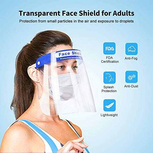 Tawny + Transparent FUNZZY Face Protective Cover Creative Face Guard Spittle-proof Shield Facial Cover for Adults Kids 2 Pcs