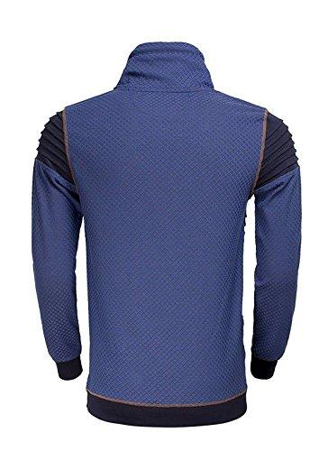 Denim Peru M Wam Size Met Royal Blauw Sweater Sjaalkraag UCnqvw