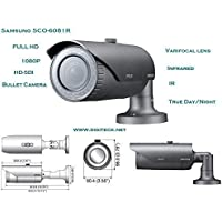 SS317 - SAMSUNG SCO-6081R HD-SDI BULLET CCTV CAMERA IP66 IR LEDS SSDR DAY/NIGHT INFRARED WDR 100DB 2.8X VARIFOCAL LENS DUAL POWER