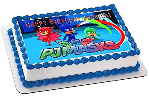 Amazon.com: PJ MASKS (Nr2) - Edible Cake Topper - 7.5
