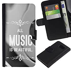 All Phone Most Case / Oferta Especial Cáscara Funda de cuero Monedero Cubierta de proteccion Caso / Wallet Case for Sony Xperia Z3 Compact // Music is Beautiful