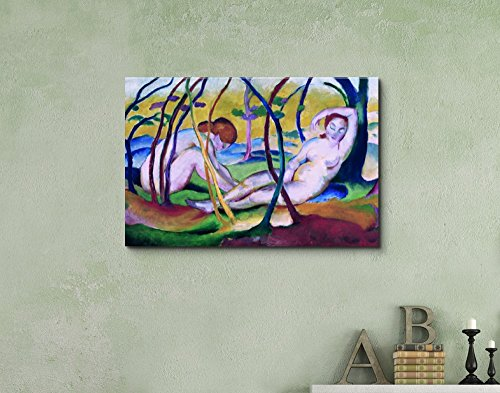 Nudes Under Trees by Franz Marc Print Famous Painting Reproduction