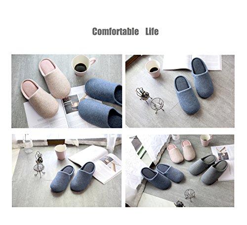 Unisex Indoor House Slippers Couples Skid-Proof Home Anti-Slip Indoors Shoes Bathroom Sandal Dark Grey 45C1z
