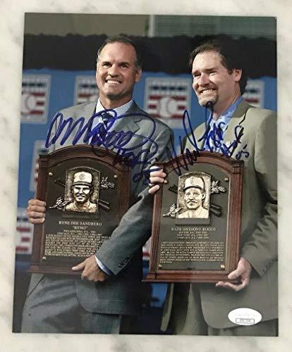 Ryne Sandberg & Wade Boggs Autographed Signed 8x10 Photo HOF JSA Cubs Yankees - Authentic Memorabilia