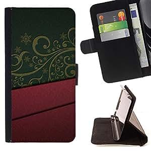 BullDog Case - FOR/Samsung ALPHA G850 / - / design interior purple green pattern art /- Monedero de cuero de la PU Llevar cubierta de la caja con el ID Credit Card Slots Flip funda de cuer