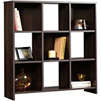 Horizontal Bookcase Cube Unit In Cinnamon Cherry Wood Finish, Includes 3 Shelves, Perfect Storage For Books And Framed Photos