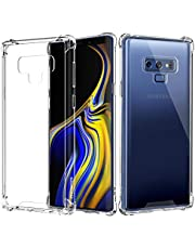 Galaxy Note 9 Case, Moko Reinforced Corners TPU Bumper Cushion & Anti-Scratch Hybrid Rugged Crystal Clear