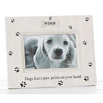 Amazon.com: Paw Prints Dog Photo Frame - Shabby Chic - Dog/Puppy 6x4 ...