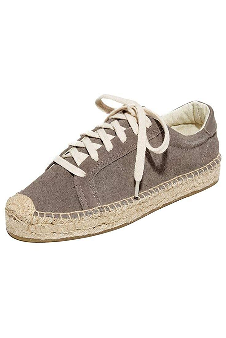 Dove Grey Soludos Womens Platform Tennis Sneaker