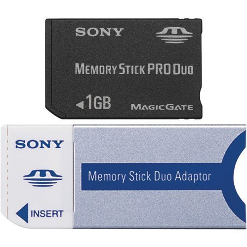 Flash memory card ( Memory Stick Duo adapter included ) - 1 GB (Accessories) (Renewed) by Sony