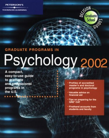 DecisionGd:GradPrg Psych 2002 (Peterson's Graduate Programs in Psychology)
