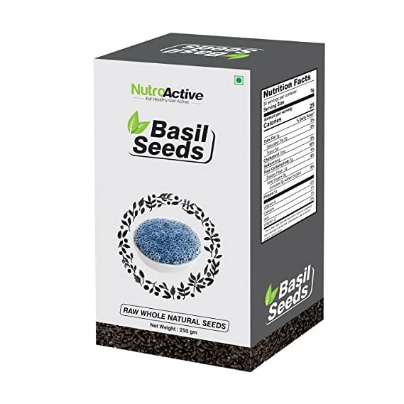 NutroActive Basil Seeds, Tukmariya/ Sabja Seeds 250 gm