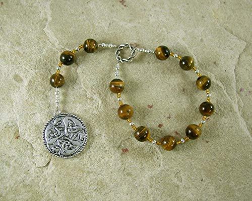 Freyja (Freya) Pocket Prayer Beads in Tiger Eye: Norse Goddess of Love, War and Magic