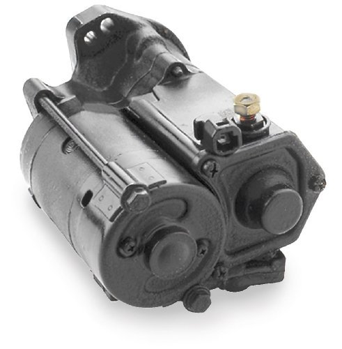 (Spyke Wrinkle Black Starter Motor for Harley Davidson 2006-13 Dyna, Big Twin)