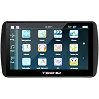 TEENO GPS Navigation for Car (7inch) Car GPS Navigator Built-in 8GB ROM 256MB RAM Satellite Navigation System, Voice Notification, Lifetime Maps and Traffic, Driver Alerts