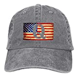 LETI LISW QAnon American Flag I'm Part The Storm1VintageDenim Cap Adult Unisex Adjustable Cap