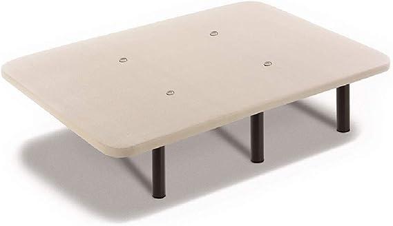 HOGAR24 Base Tapizada + Colchón Viscoelástico Visco-Medicot 3D + Almohada Fibra Resinada, 135x190 - Patas Metal 32 cm…