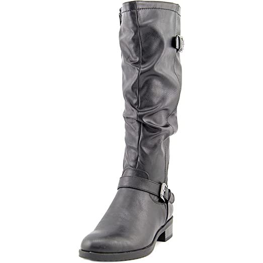 Womens Chip Leather Closed Toe Mid-Calf Fashion Boots