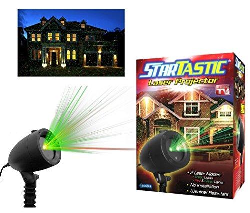 StarTastic Holiday Light Show Static Laser Light