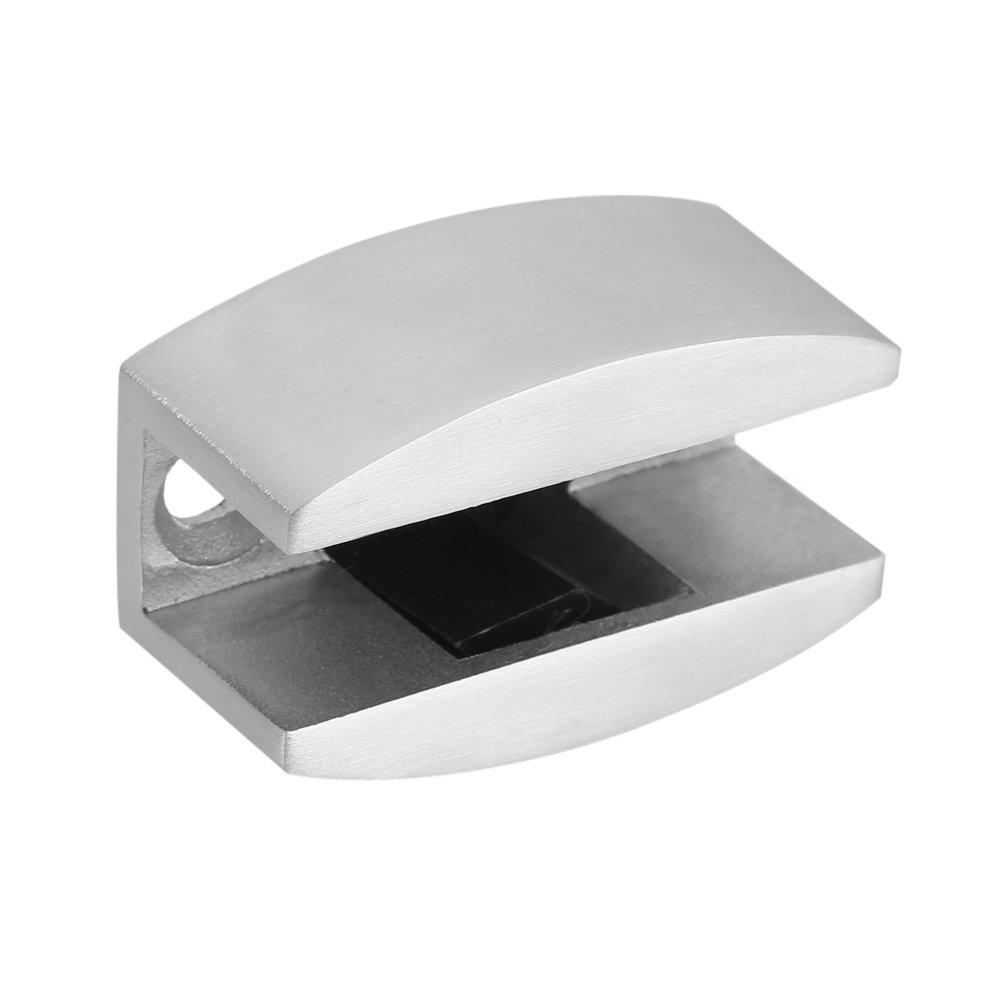 La pince de charni/ère de pivot de porte en verre dacier inoxydable 304 fixe la fixation de but/ée de porte de verre coulissante sans cadre pour la salle de bains