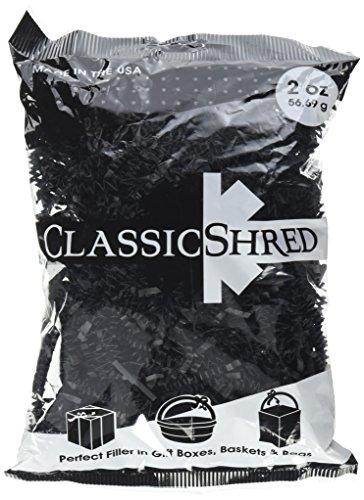 SPRING-FILL C2 ozBKHS-P Paper Shred, 2 oz, Black ()