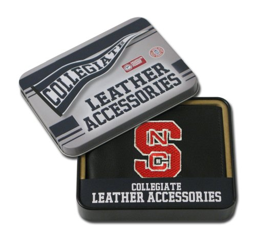 (NCAA North Carolina State Wolfpack Embroidered Leather Billfold)