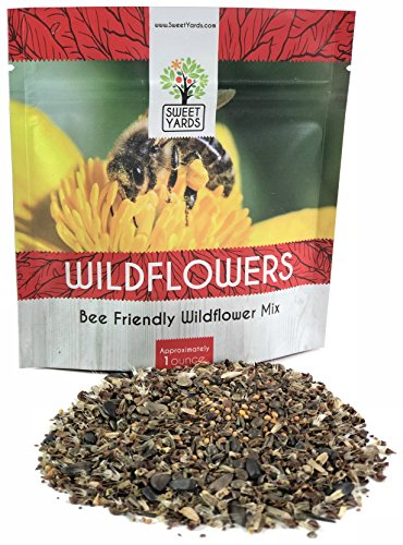 (Bee Friendly Wildflower Seed Mix - Bulk 1 Ounce Packet - Over 7,500 Open Pollinated Seeds - Save the Bees!)