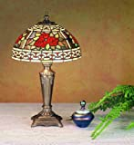 16.5 Inch H Roses & Scroll Mini Lamp Table Lamps
