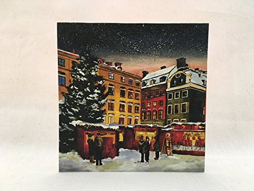 (Stockholm Christmas Market Canvas Art Block )