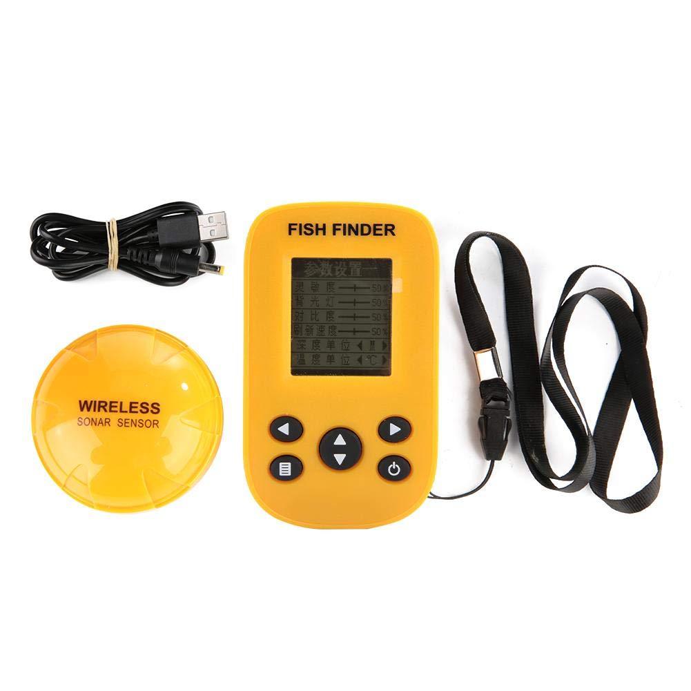 ポータブルソナーフィッシュファインダー 0.6-100m 無線ソナー 125KHZ 125KHZ 防水 耐久性 抗干渉効果 安定信号 安定信号 携帯用 川 湖 海釣り 無線ソナー B07QXZRYLP, 靴トラ:7af9f778 --- tandlakarematspetersson.se